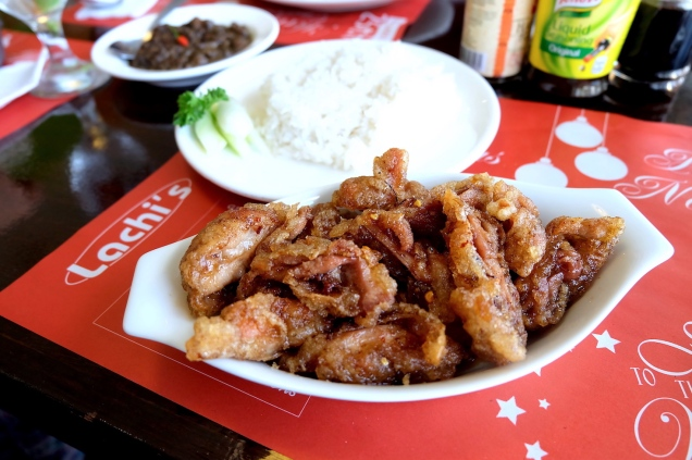 asian spicy chicken at lachi's davao