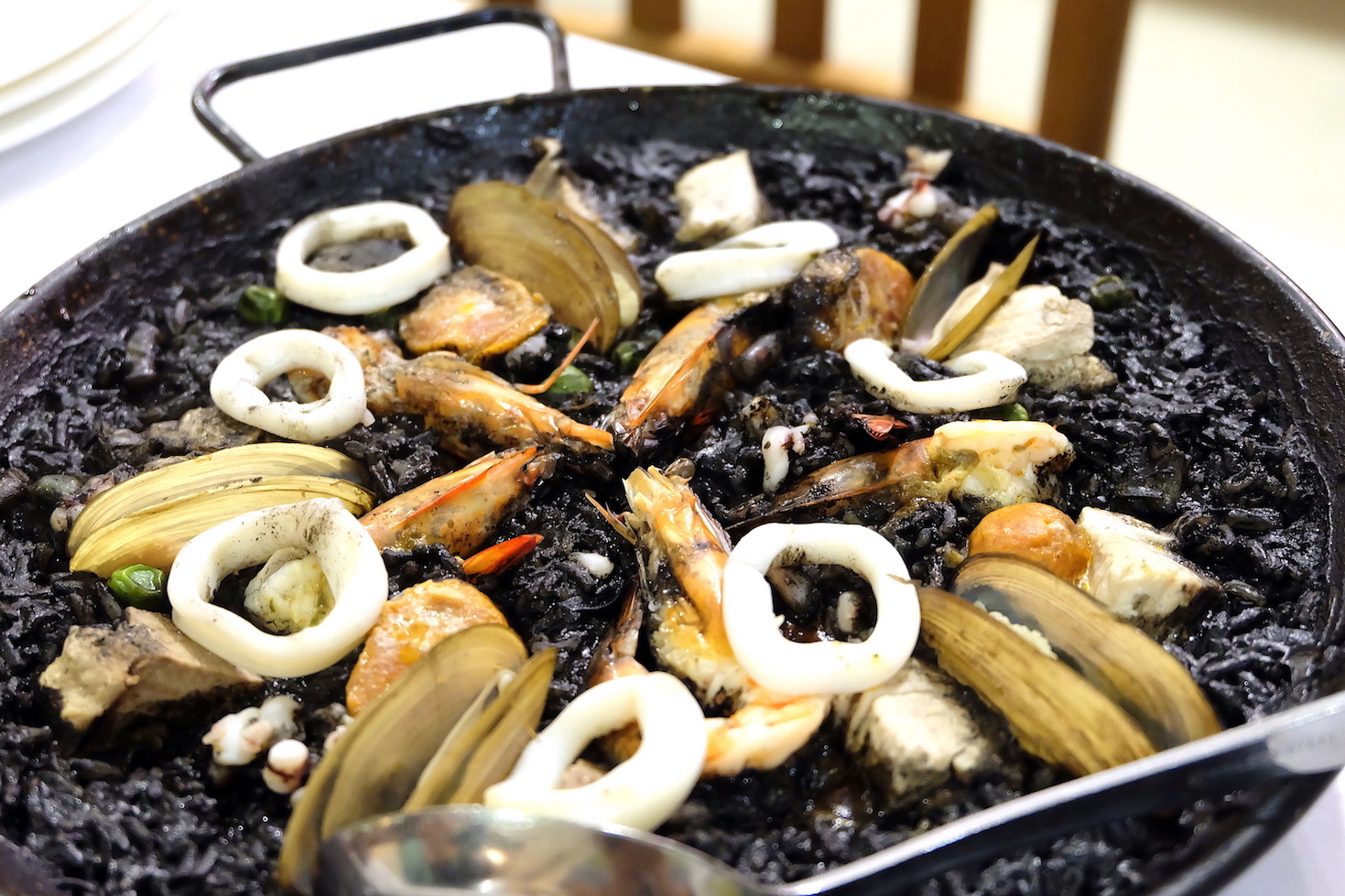 Paella Negra at Tiny Kitchan Davao